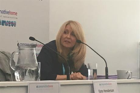 Housing minister Esther McVey at the ConservativeHome fringe event at the Conservative Party Conference
