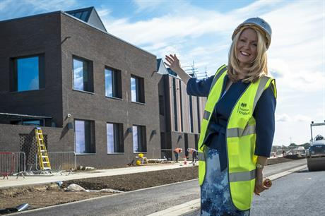 Housing minister Esther McVey at the new Homes England office in Northstowe. Pic: MHCLG