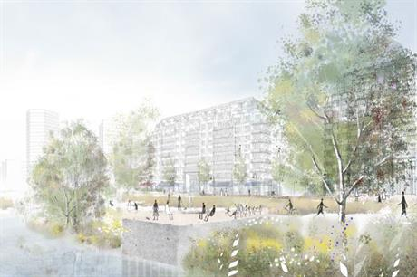 A visualisation of the second phase of Meridian Waters. Pic: Enfield Council