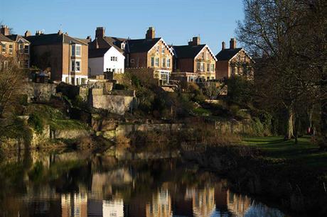 Homes in Morpeth, Northumberland. Image: Flickr / johndal