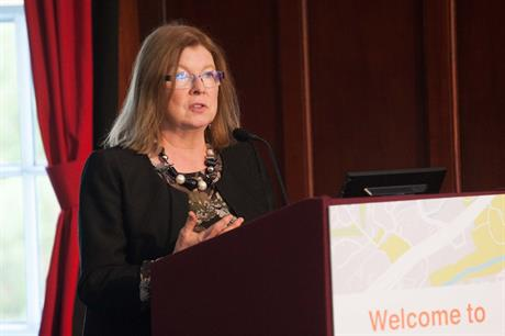 Labour's shadow planning minister Roberta Blackman-Woods speaking at the National Planning Summit yesterday