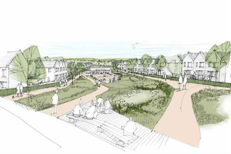 An artist's impression of plans for 450 homes near Nailsea. Image: Mactaggart and Mickel Homes