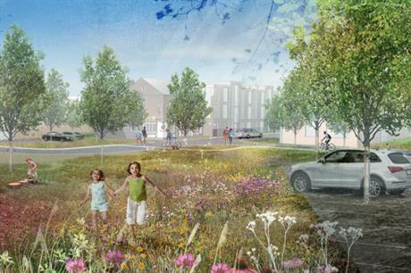 An artist's impression of plans for Orchard Street in Salford. Image: Connell Property Partnership and Shea Investments