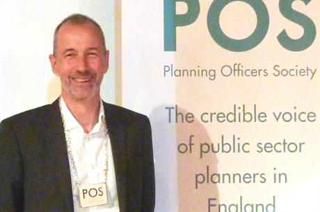 Paul Seddon, the new president of the Planning Officers Society