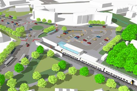 An artist's impression of plans for Portishead station (pic: Travelwest)