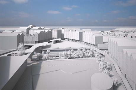 An artist's impression of plans for Purfleet Centre. Image: PCRL