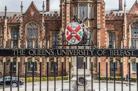 Queen's University Belfast: one if 16 universities signed up to bursary scheme