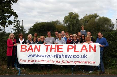 "Winsford: action group urges ""no"" vote in referendum on plan that would see 3,362 homes built on 24 sites in town to 2030"