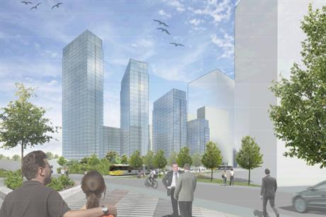 An artist's impression of plans for 1,500 homes at Salford Quays