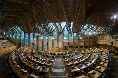 Scottish Parliament: MSPs voted in favour of changes to the planning system. Image: Wikimedia Commons