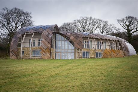 """Design quality: the Spiral Eco House in Membury, Devon, which was permitted under the 2012 NPPF's paragraph 55 clause requiring """"exceptional quality"""""""