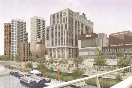 An artist's impression of plans for Stratford Waterfront. Image: GLA