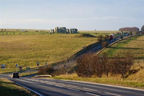 The A303 near Stonehenge - image: geograph / Peter Trimming (CC BY-SA 2.0)