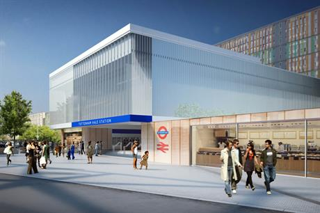 Artist's visualisation of the proposed Tottenham Hale Station