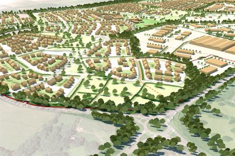 A visualisation of the Tasley Garden Village proposals. (Pic: Taylor Wimpey)