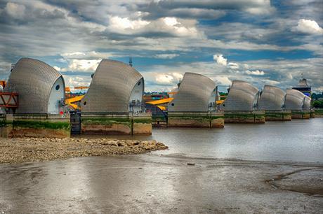 The Thames Barrier. Image: Flickr / Jack Torcello