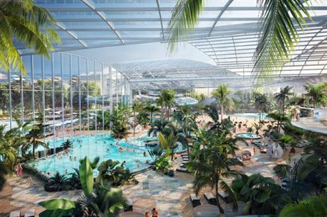 Visualisation of the Therme Manchester leisure development - image: Therme Group