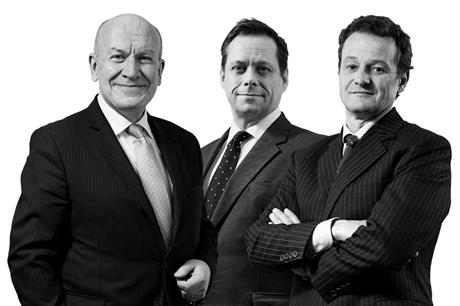 (l-r) Cristopher Katkowski, Rupert Warren QC, Christopher Young