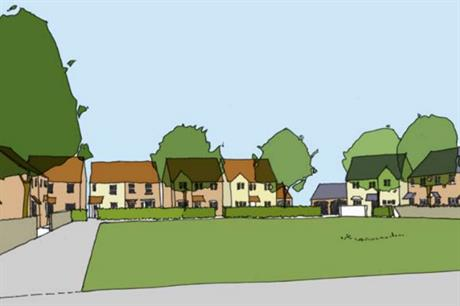 An artist's impression of plans for 618 homes in Caerphilly, south Wales. Image: PMG / Persimmon