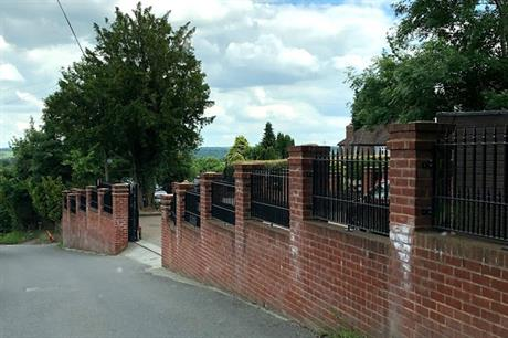 The illegal wall (pic: Sevenoaks Council)