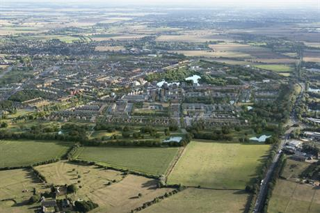 An artist's impression of plans for Waterbeach New Town in Cambridgeshire. Image: Urban&Civic