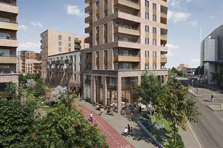A visualisation of the redeveloped Waterloo Estate in Romford. Pic: Wates Residential/Havering Council