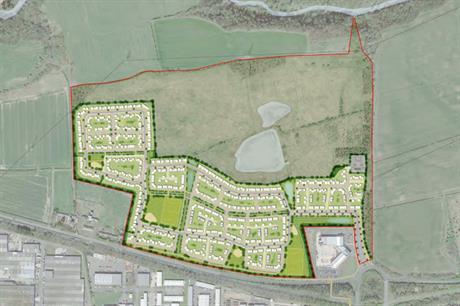 A masterplan visualisation of the proposed Cramlington scheme