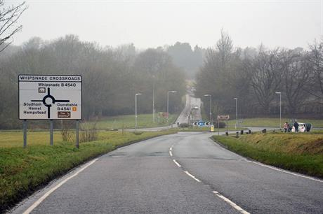 Whipsnade Crossroads in Bedfordshire: transport infrastructure in the Oxford-Cambridge corridor. Pic: Lewis Clarke (CC BY-SA 2.0)
