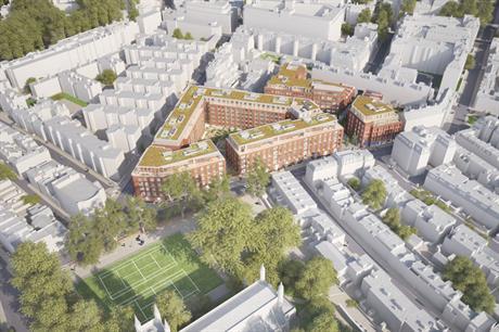 William Sutton Estate: An artist's visualisation of the finished scheme