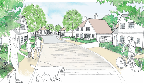 An artist's impression of plans for 188 homes in Wokingham. Image: Welbeck Strategic Land