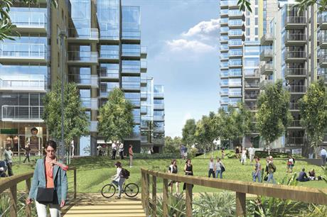 Woodberry Down: an artists impression of the redeveloped estate