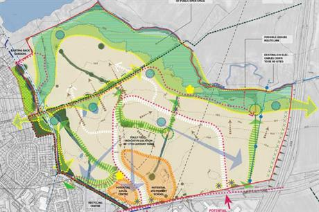 A masterplan visualisation of the proposals - pic: HB (South Caldecotte) Ltd