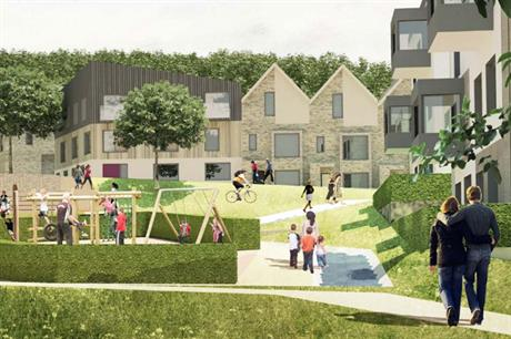 A visualisation of the finished Coypool Park development (pic: Homes England)