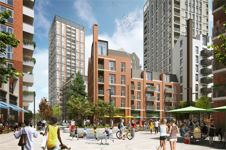 A visualisation of the proposed scheme (Pic: BlackRock and NEAT Developments)