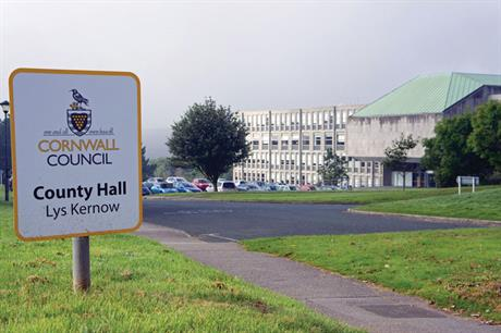 Cornwall: authority made greatest use of PPAs in two years from July 2012 to June 2014