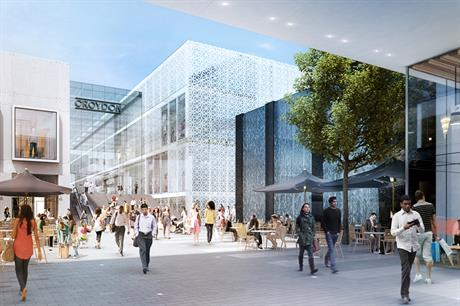 Croydon: artist's impression of the redeveloped shopping centre