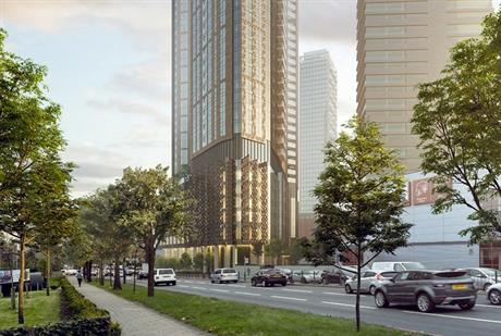 Visualisation of north Acton residential tower. Image by Aldau Development