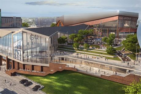 A visualisation of the finished scheme (pic: HOK)