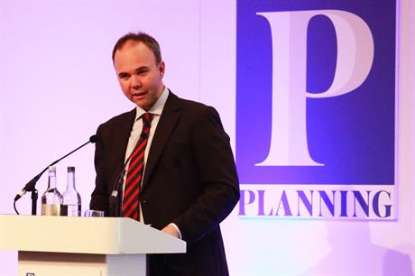 Housing and planning minister Gavin Barwell speaking at the Planning for Housing conference