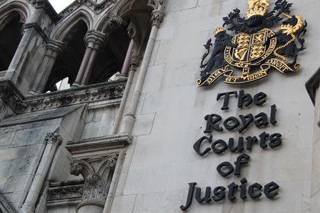 London's Royal Courts of Justice