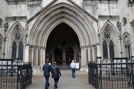 London's Royal Courts of Justice: fracking case goes against government