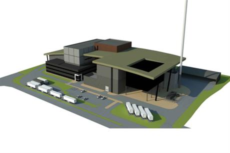 A visualisation of the West Sussex energy from waste scheme. Pic: Britaniacrest Recyling Ltd