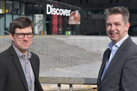 Mark Dickens (right), lead spatial planning officer at the Liverpool City Region Combined Authority (LCRCA) and Jamie Longmire, senior spatial planning manager at the LCRCA.