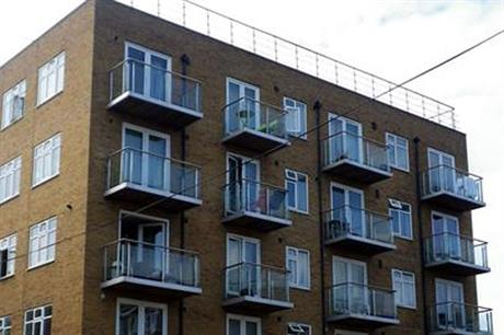 The illegally built flats in Hoxton, East London