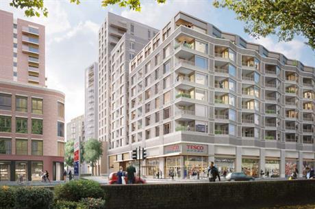 A visualisation of the finished Kennington Lane development