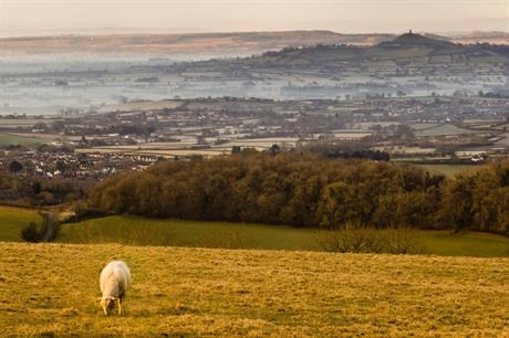 View across the Somerest Levels towards Glastonbury - image: Stewart Black / Flickr (CC BY 2.0)