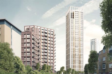 A visualisation of the finished Lewisham scheme (pic: MB Homes Lewisham LTD)