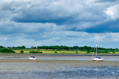 Low tide on the Stour at Mistley (Pic: Getty)