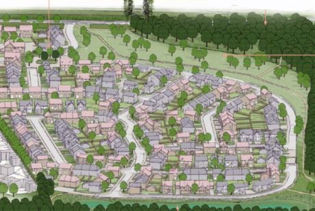 A visualisation of the proposed Mansfield scheme. Image by Gladman Developments