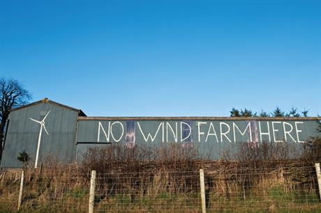 Wind farms: government has taken over application decisions in a number of cases